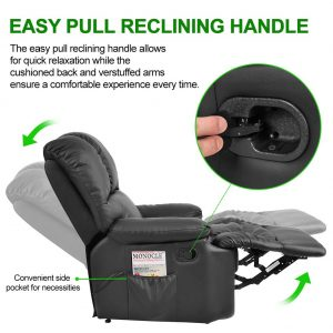 WATERJOY Massage Recliner Chair with Heat and Vibrating-5