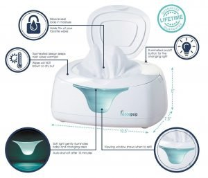 hiccapop Wipe Warmer and Baby Wet Wipes Dispenser 3 300x257 image