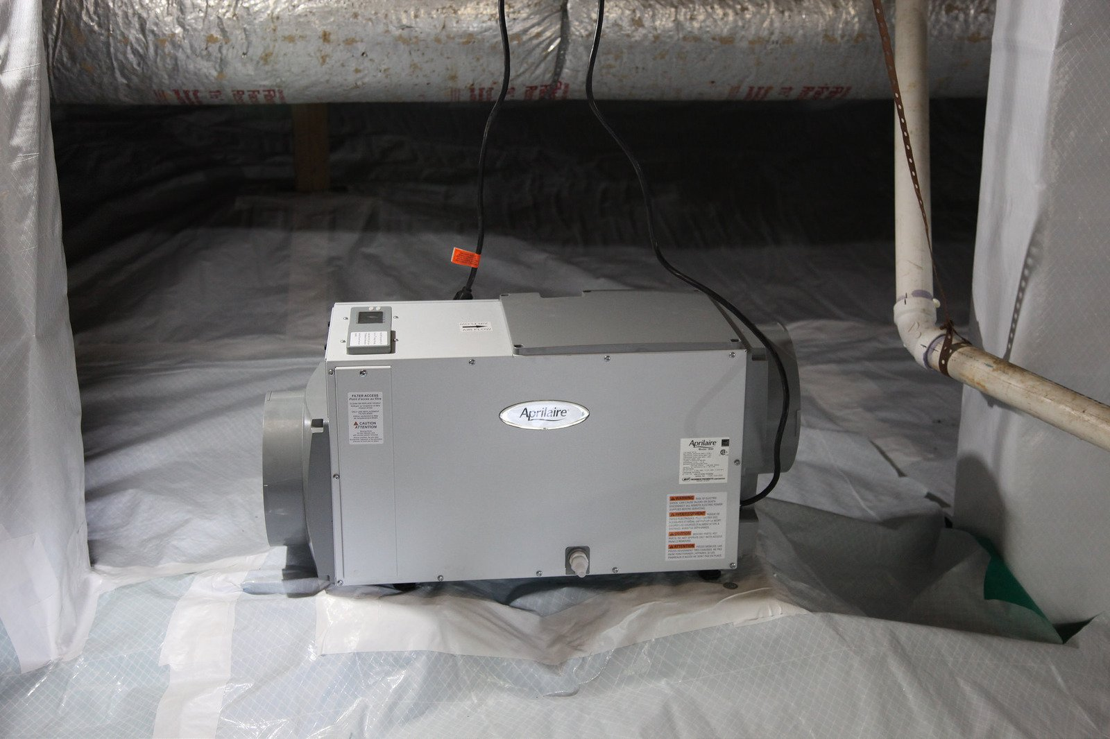 aprilaire dehumidifier in crawl space image