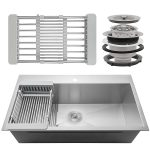 Firebird Handmade Stainless Steel Drop-In Kitchen Sink-4