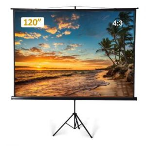 Large Portable Projector Screen with Tripod Stand