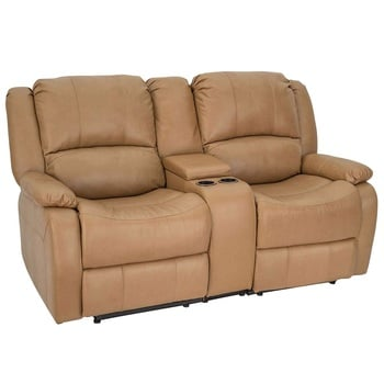 RecPro Charles Collection 67 Double Recliner RV Sofa & Console