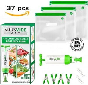 Sous Vide Cooking Bags by SousVideArt Kit