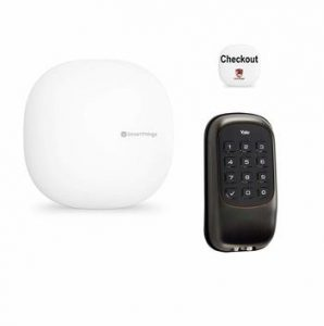 Samsung and Yale Aurmur Smart Lock and Checkout Button