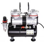 AW Pro Twin-Cylinder Airbrush Compressor