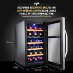 Ivation Premium Stainless Steel 18 Bottle Dual Zone Thermoelectric Wine Cooler2