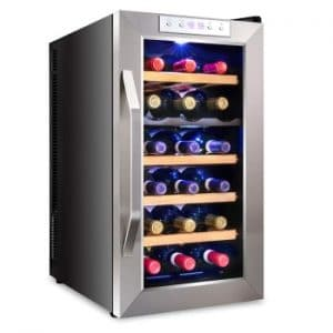 Ivation Premium Stainless Steel 18 Bottle Dual Zone Thermoelectric Wine Coolers