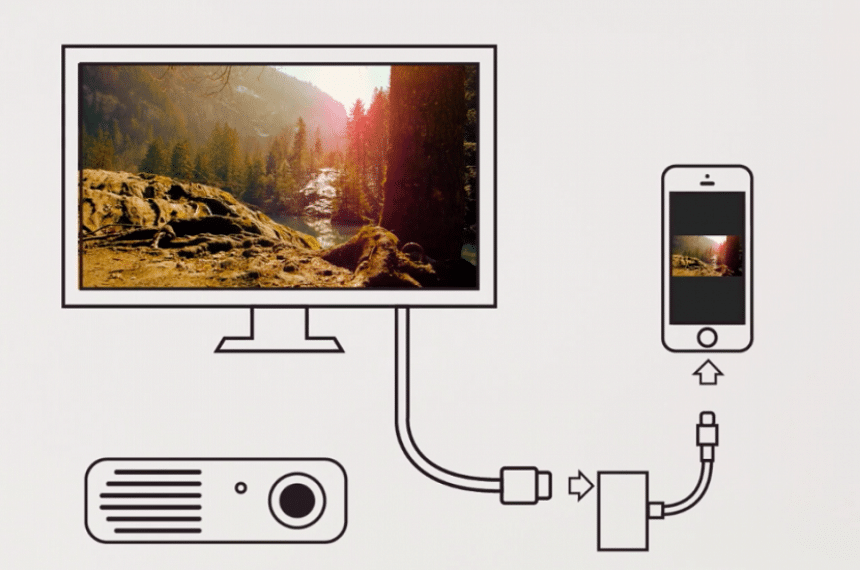 How to Connect an iPhone to a Projector With a Cable and Wirelessly