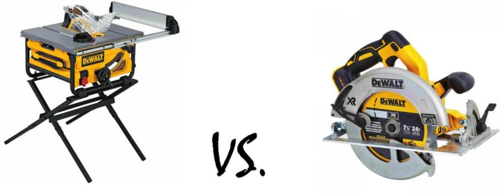 Table Saw vs Circular Saw: The Difference and Best Uses